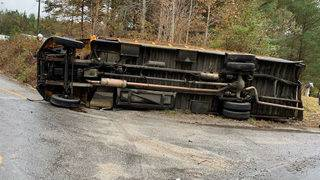 Careful out there: School bus flips over in Virginia, causing several injuries
