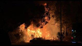 Fire engulfs Villages home