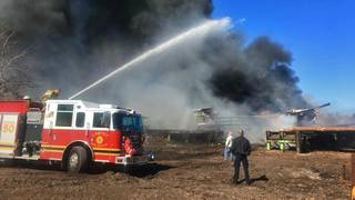 Deputies: 4-alarm fire breaks out at Lawtey lumber yard