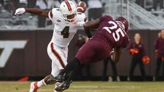 Perry, Davis carry Miami past reeling Virginia Tech, 38-14