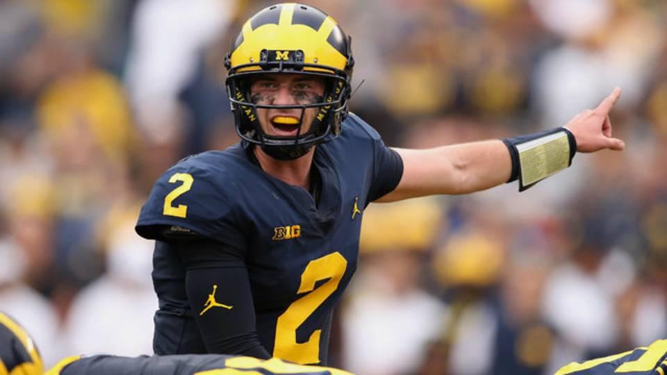 Shea Patterson points Michigan football vs Maryland 2018