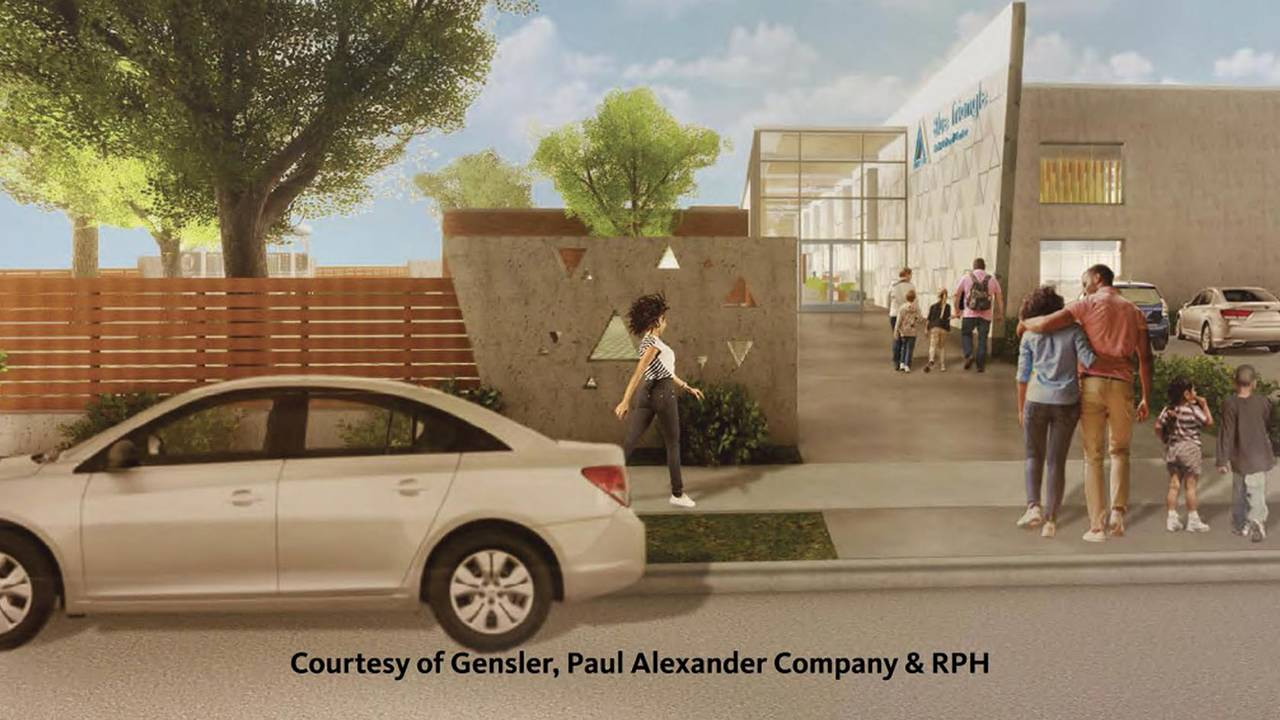 Blue Triangle rendering exterior