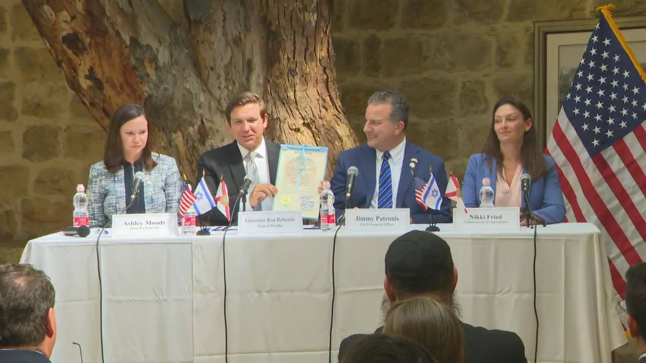 Gov. Ron DeSantis holds Florida resolution with Cabinet in Israel