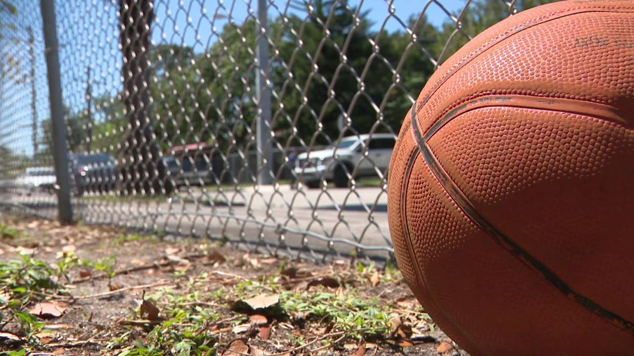 Basketball propped against fence after Little Haiti shooting