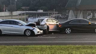 Arlington Expressway reopens after 2 officer-involved crashes