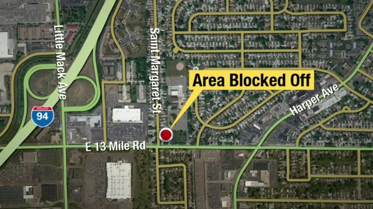 St Clair Shores barricaded gunman location