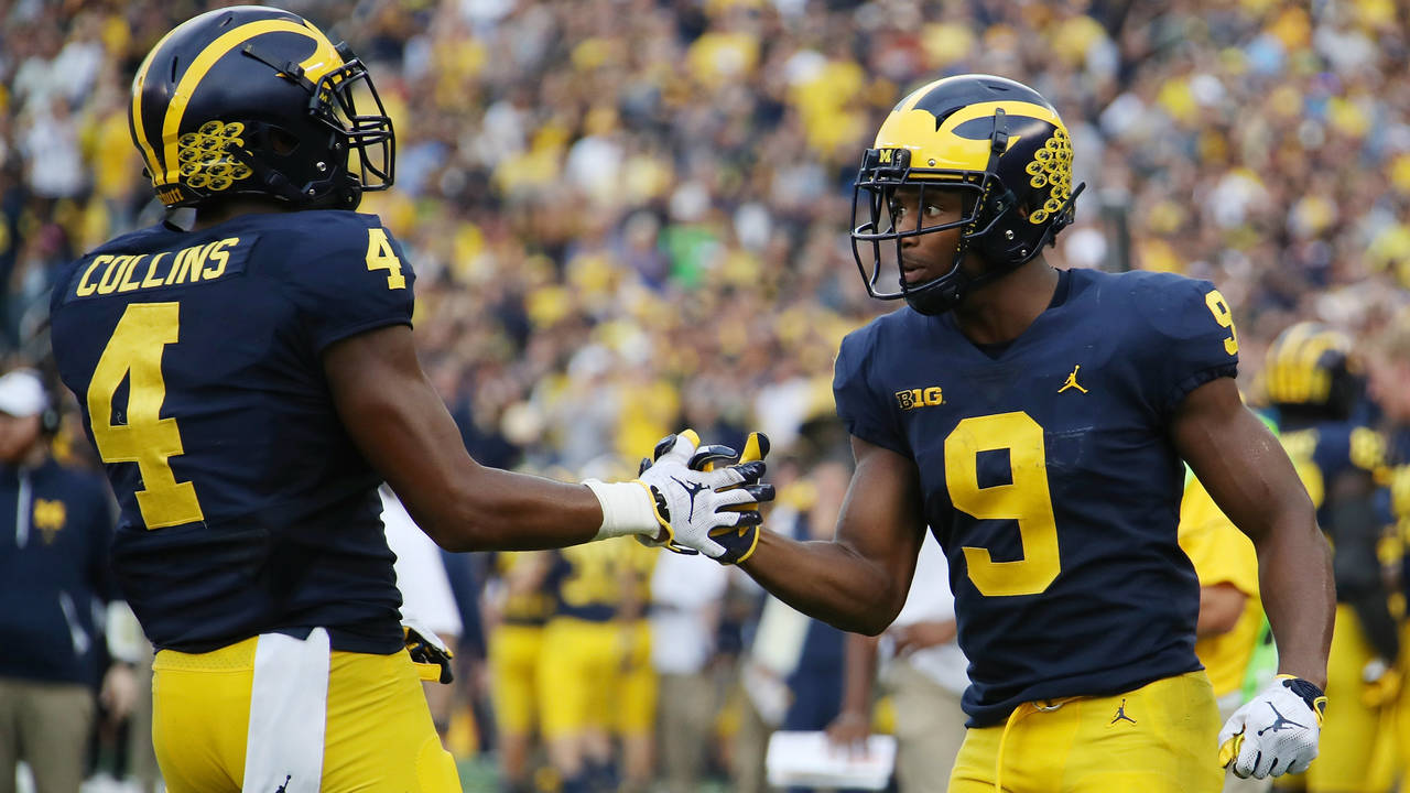 Donovan Peoples-Jones and Nico Collins Michigan football vs Maryland 2018