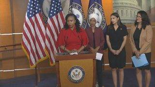 Tlaib, congresswomen hold news conference following Trump's controversial tweets