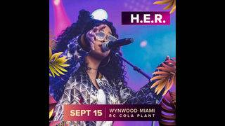 H.E.R. Headlines Best Life Festival in Wynwood