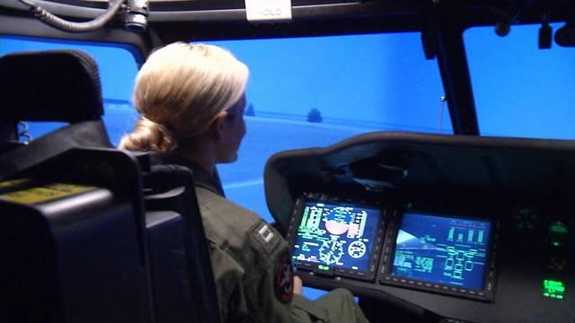 Sara in simulator