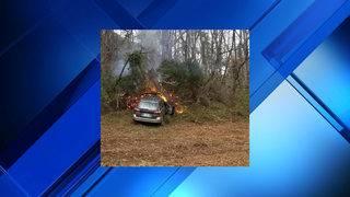 Car fire closes northbound left lane, shoulder on I-81 in Botetourt County