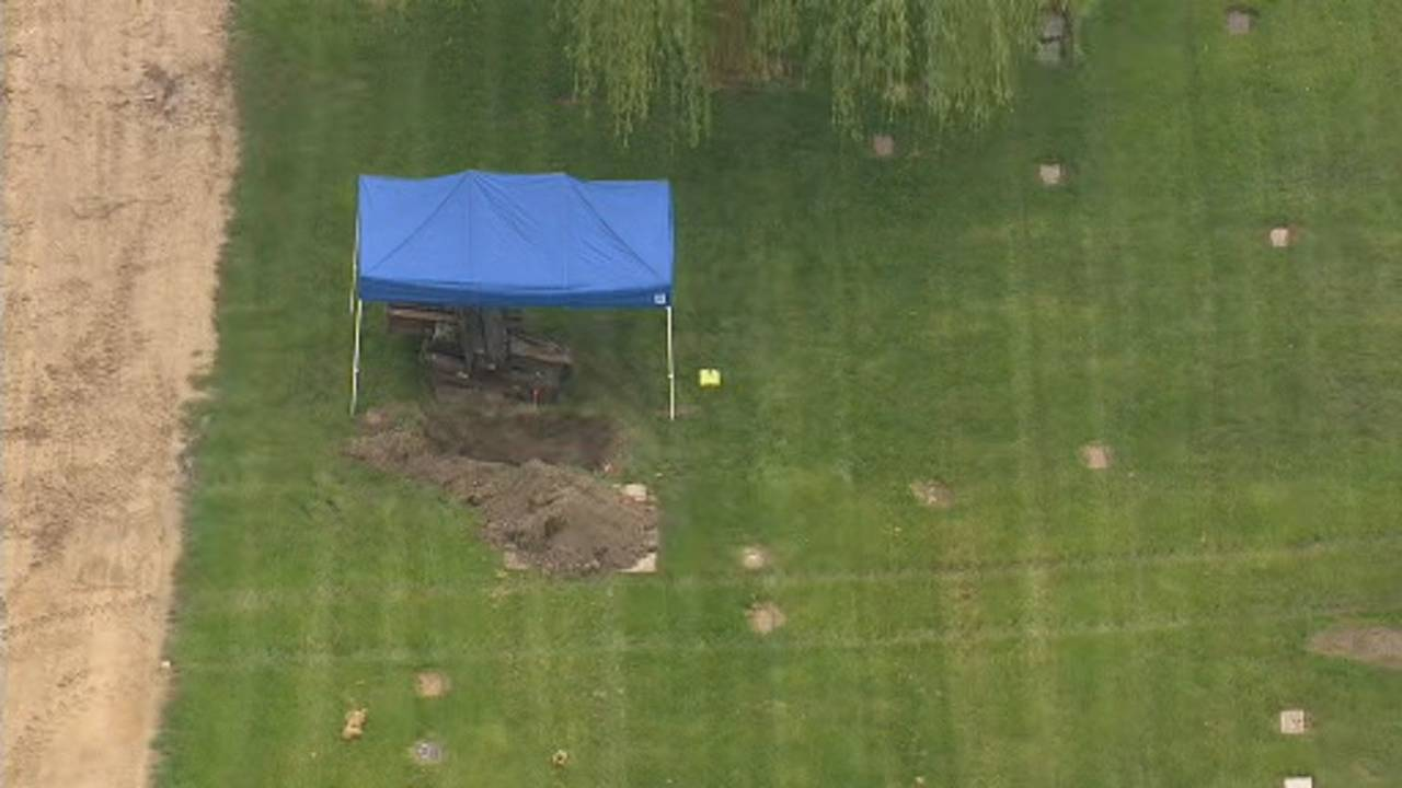 Canton Township cemetery dig aerials 7