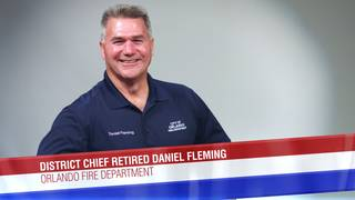Retired District Chief Daniel Fleming of the Orlando Fire Department