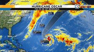 Oscar strengthens into hurricane but won't impact South Florida