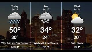 Weather: Rain and fog Monday morning across Metro Detroit
