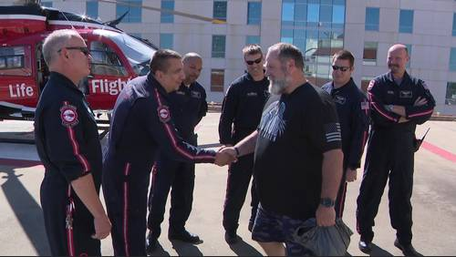 Only on 2: Santa Fe officer discusses shooting, reunites with life flight crew that saved his life
