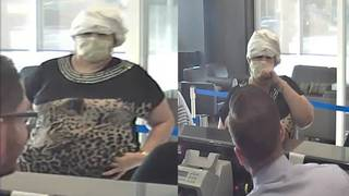 Thief in hospital mask, leopard shirt robs TD Bank branch in