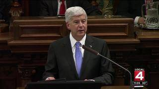 Michigan Gov. Rick Snyder takes victory lap in final State of the State Address