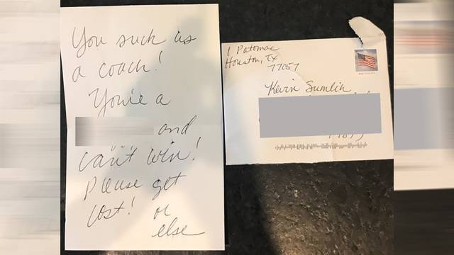 texas a&m's kevin sumlin receives racially-charged letter from