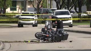 Doral motorman injured in crash remains hospitalized
