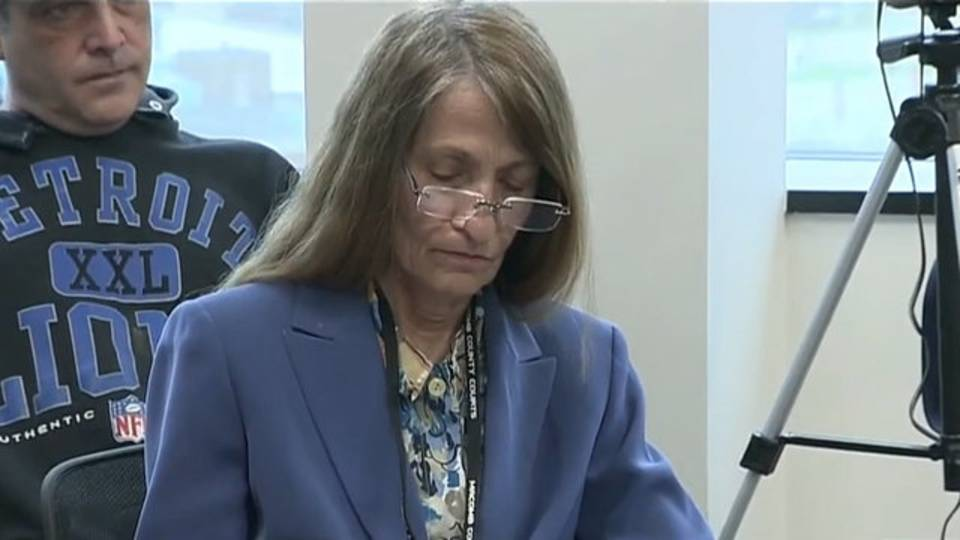 Karen Spranger Macomb County Clerk at hearing