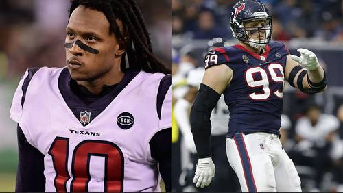J.J. Watt, DeAndre Hopkins placed on active/physically unable to perform list
