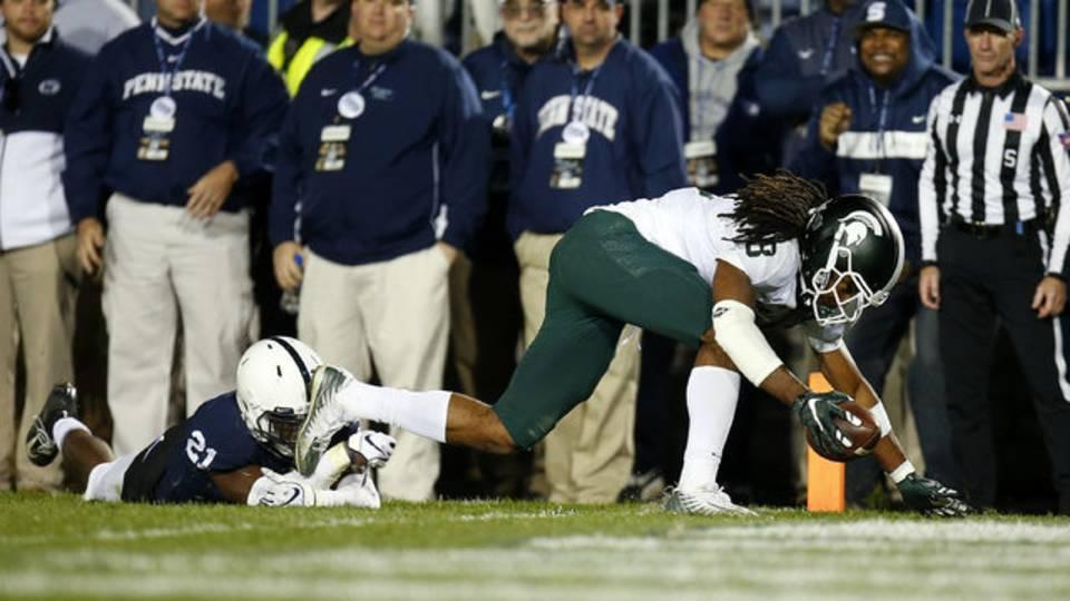 Felton Davis III Michigan State football vs Penn State 2018
