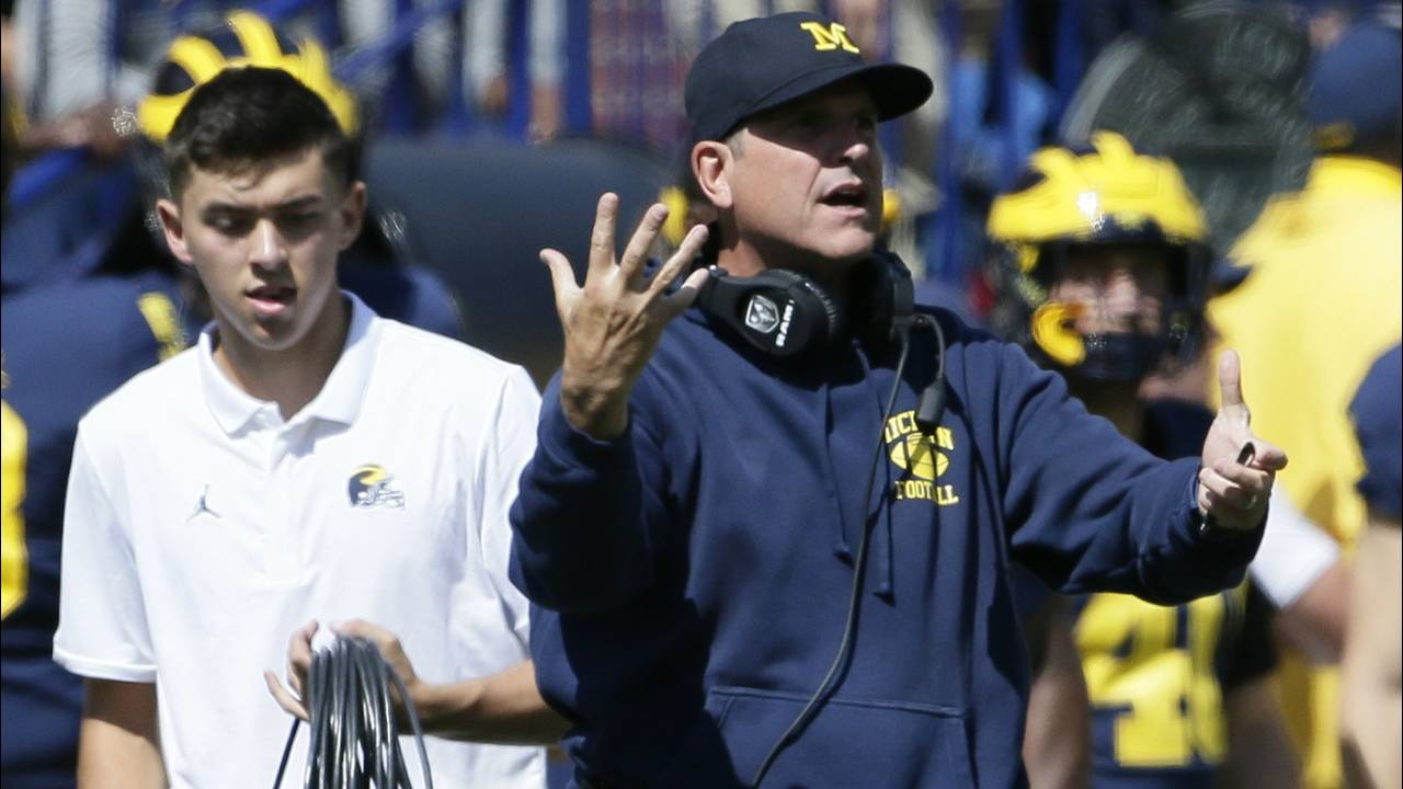 Jim Harbaugh Michigan football vs Army 2019