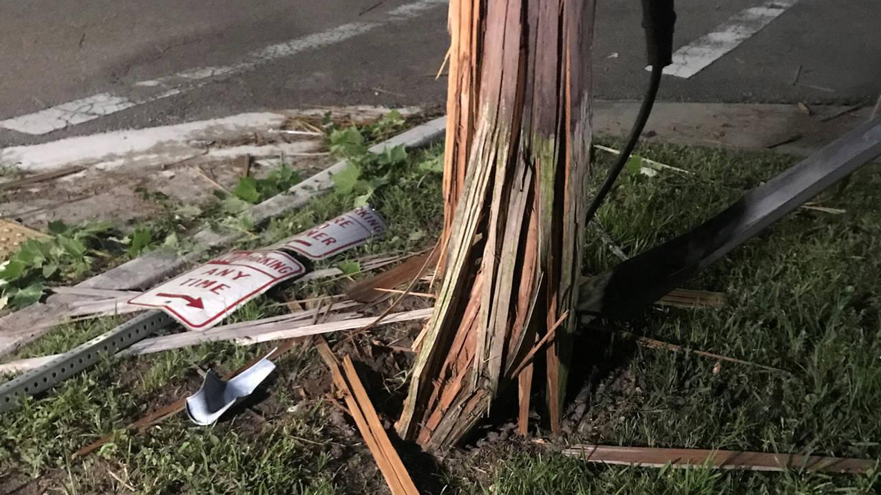 Power-pole NW Jax patrol crash