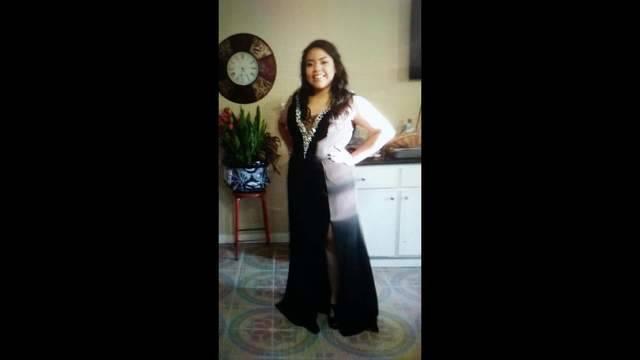 Jocelynn Valero before prom