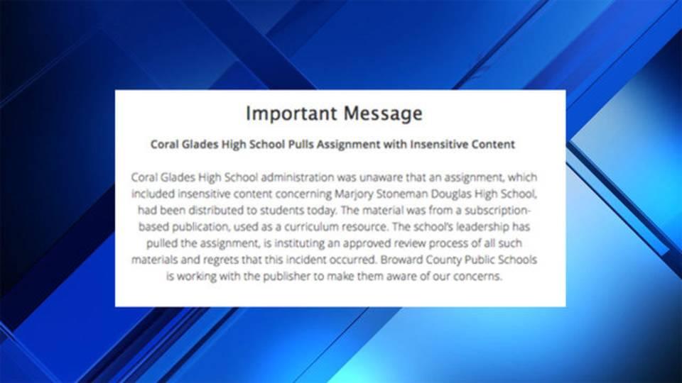Broward County Public Schools Statement 12