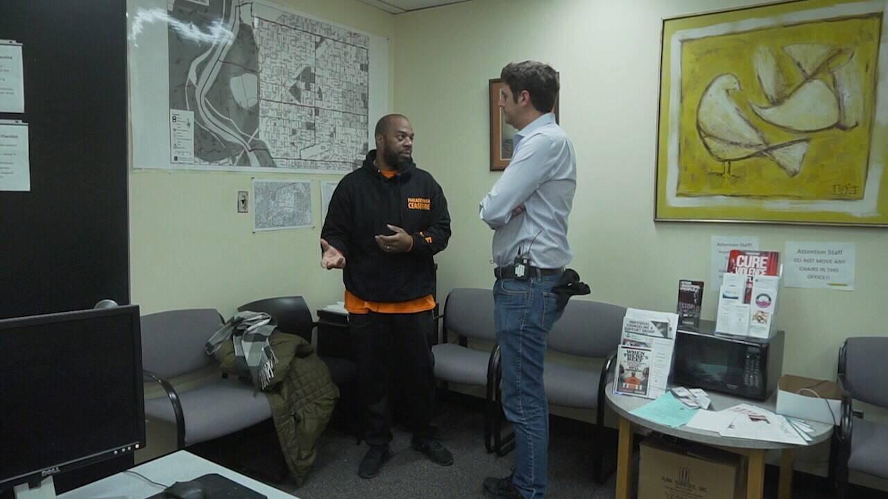 Vic with Robert Warner Philadelphia CeaseFire