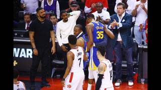 Images: Kevin Durant gets hurt, Toronto fans cheer