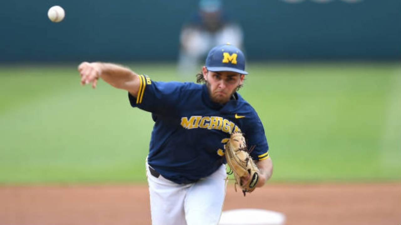 Karl Kauffmann Michigan baseball vs UCLA CWS 2019