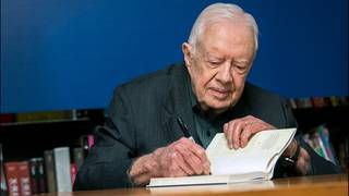 Jimmy Carter says discrimination is the world's biggest problem