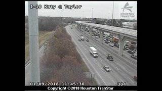I-10 Katy Freeway reopens near downtown after hazmat spill