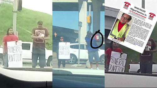 Family accuses panhandlers of using dead grandfather's photo on sign