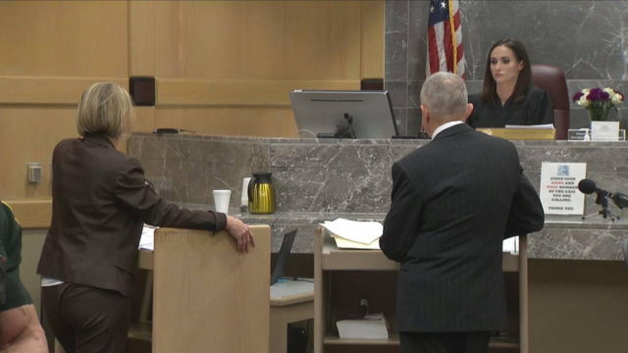 Defense attorney Melisa McNeill and prosecutor Steven Klinger appear before Judge Elizabeth Scherer, Sept. 26, 2018