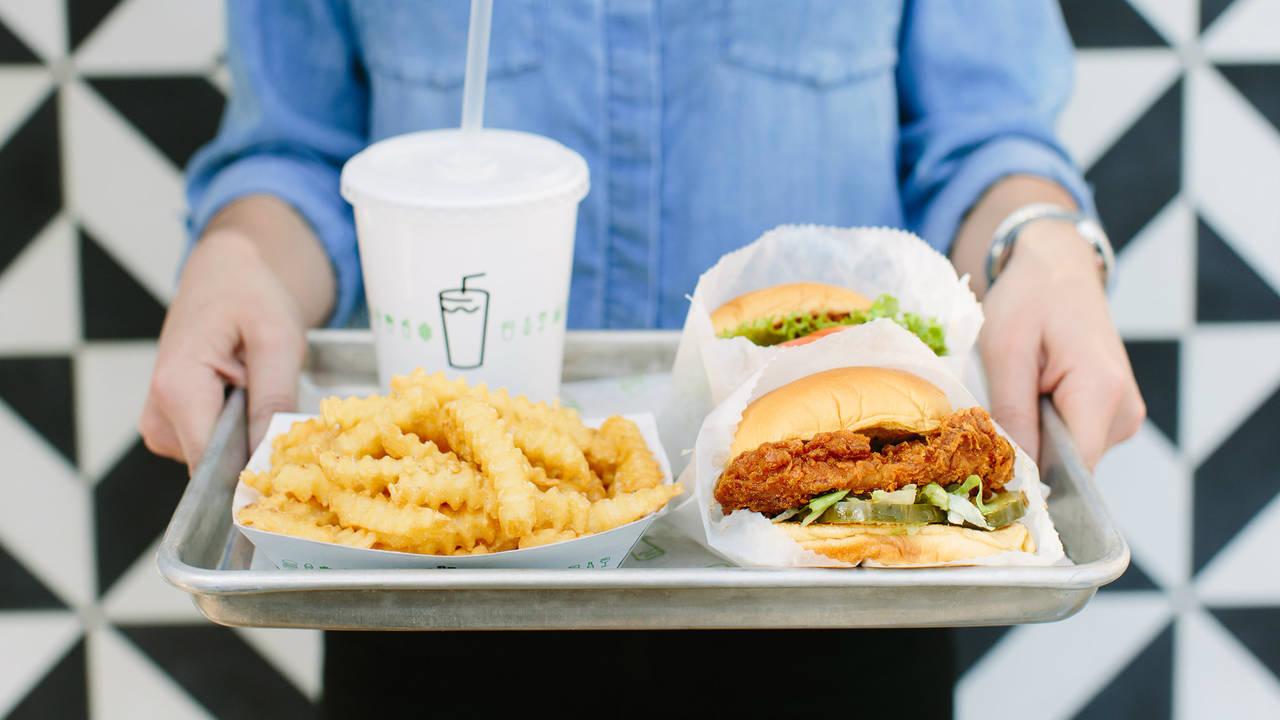 Shake Shack chicken sandwich meal