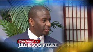 Andrew Gillum and Amy Pope-Wells