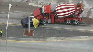 1 dead in head-on collision involving cement truck in Hialeah