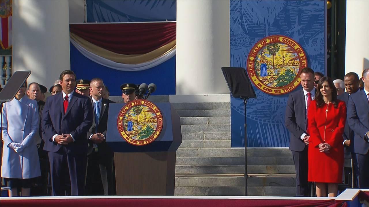 Gov. Ron DeSantis and Lt. Gov. Jeanette Nunez at inauguration