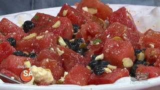 RECIPE: Red, White and Blue Fresh Watermelon Salad with a Bold Tony's Twist