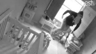 Baby monitor captures thief burglarizing home in Weston