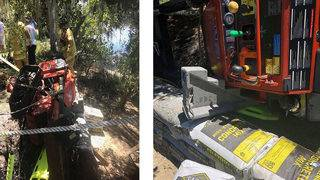Flagler firefighters: 3,000-pound tractor rolls over on driver