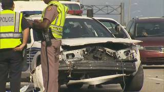 Multiple cars involved in crash on Interstate 95 in Miami Gardens