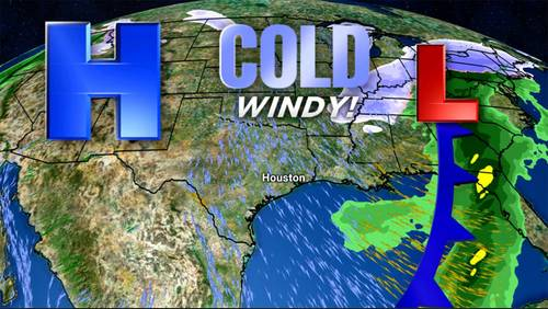 Temperatures tumble in Houston this weekend