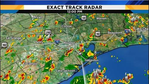 Scattered thunderstorms pop up across southeast Texas
