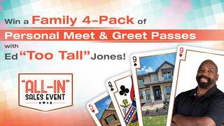 """Win a Family 4-Pack of Personal Meet & Greet Passes with Ed """"Too Tall"""" Jones"""