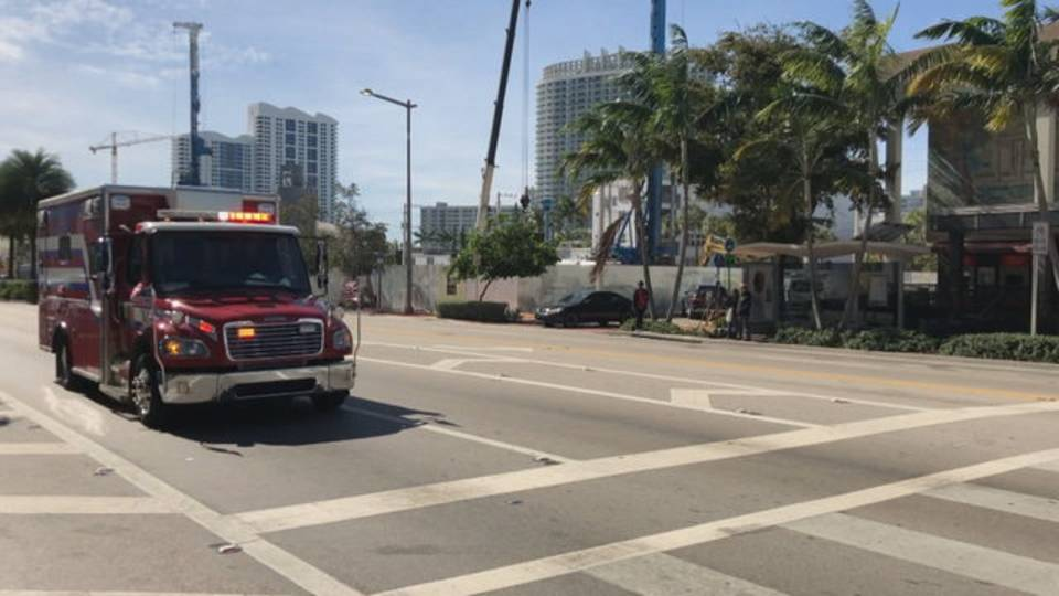 Miami Beach police officer being taken to hospital